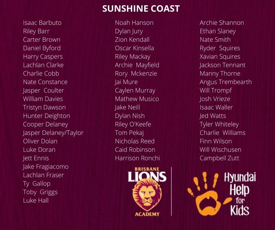 Brisbane Lions Academy U15 Boys