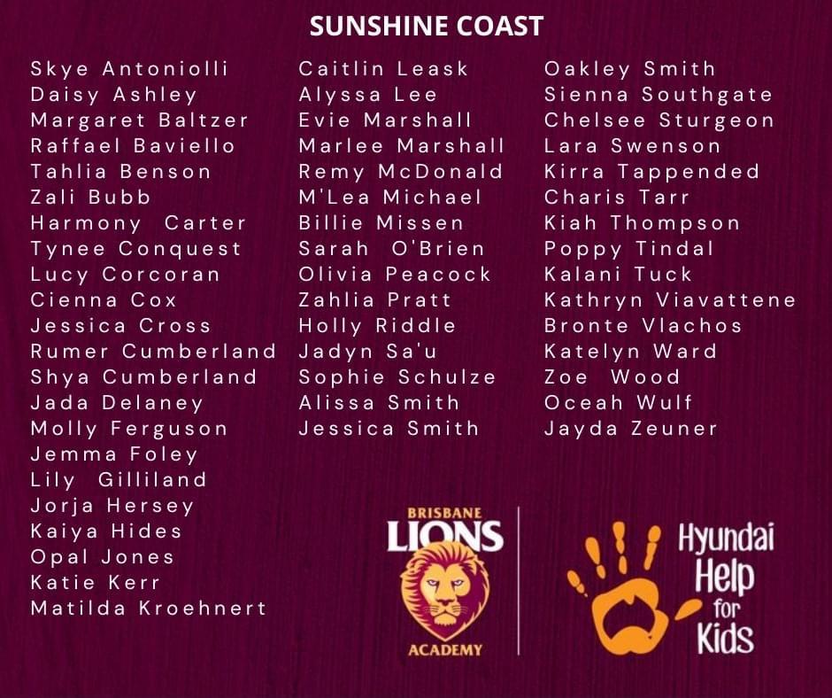 Brisbane Lions Academy U15 Girls